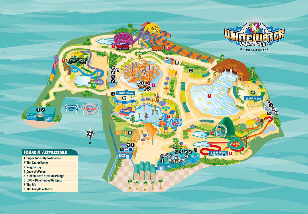 WhiteWater World Map