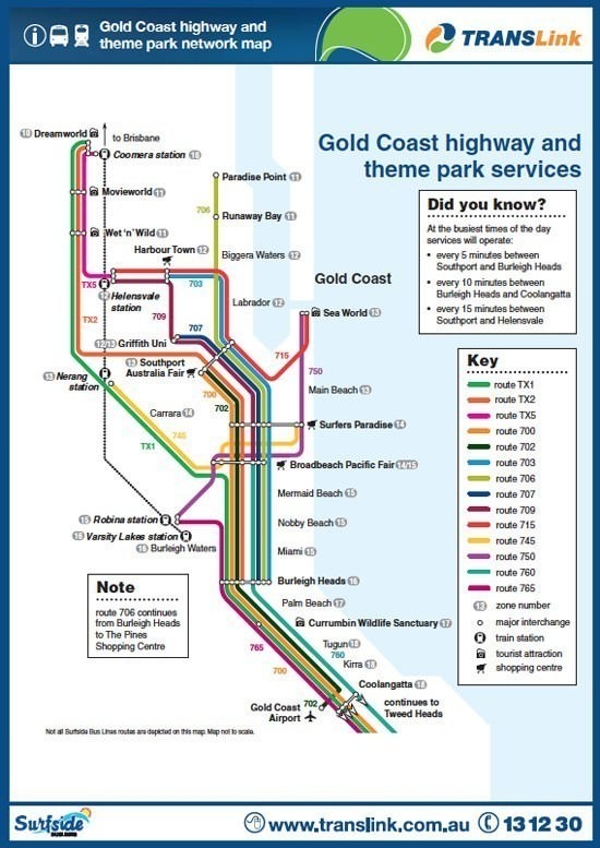 Gold Coast Bus Timetable View Online Experience Oz