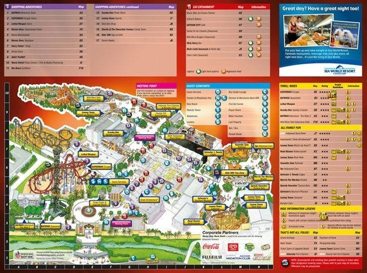 Gold coast theme park maps experience oz nz movieworld map gumiabroncs Choice Image