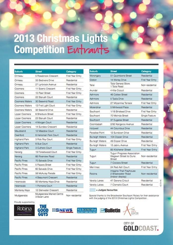 Gold Coast Christmas Lights 2013
