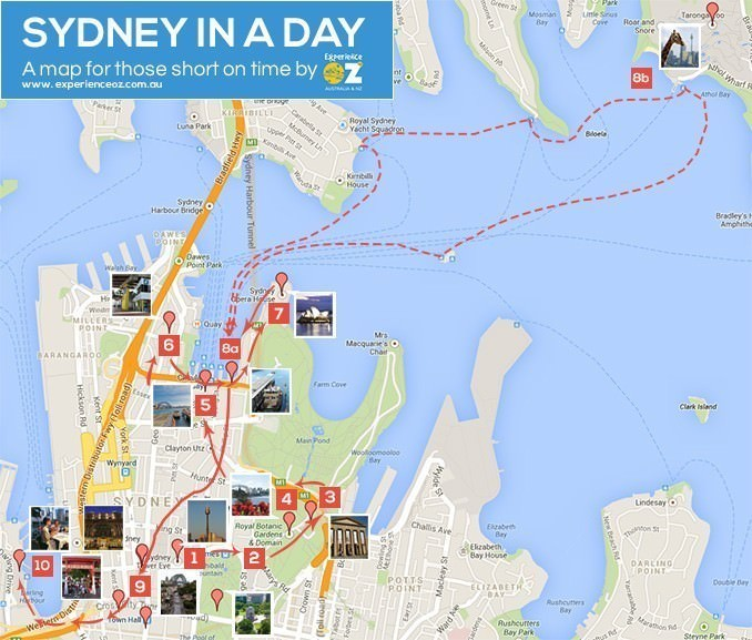 Sydney in one Day Map