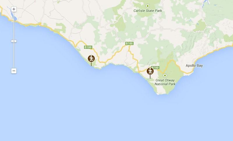 12 Apostles Walk map