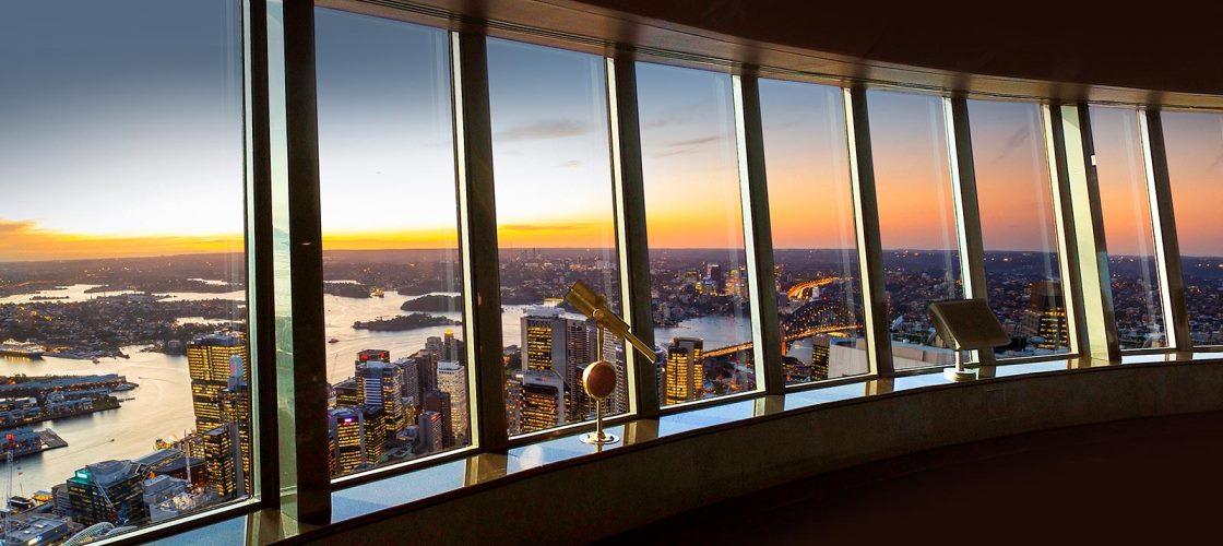 Sydney Tower Eye Sunset