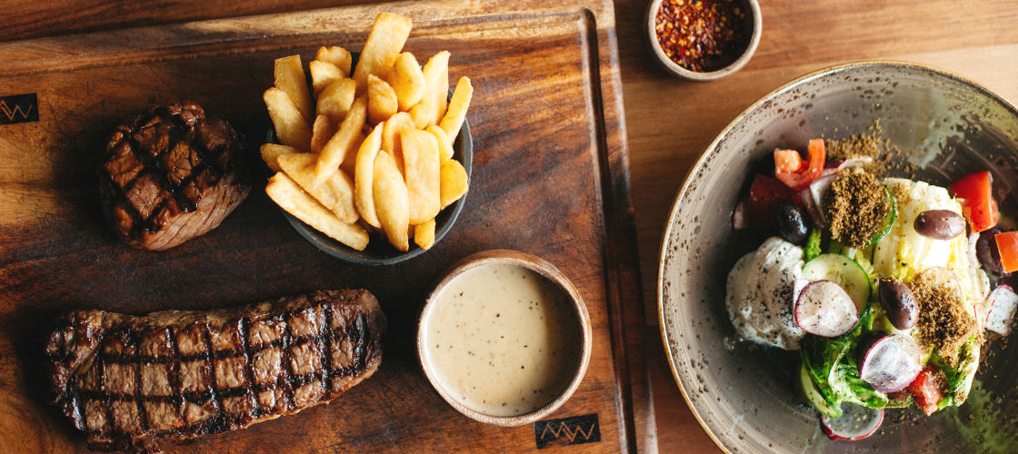 The Meat and Wine Co  steak