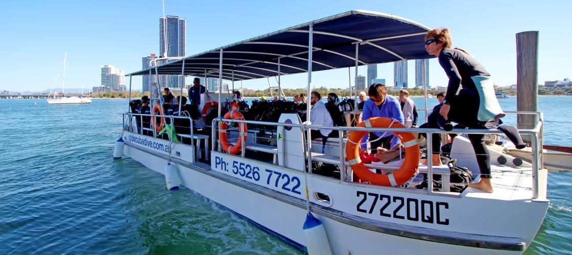 Scuba Diving Gold Coast Dive boat
