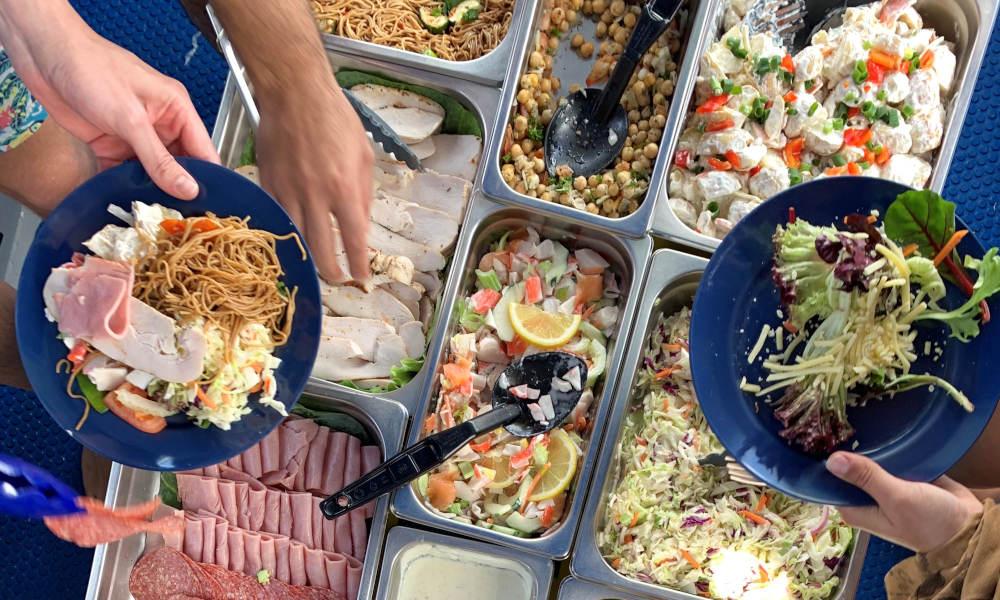Ocean Rafting tropical buffet lunch