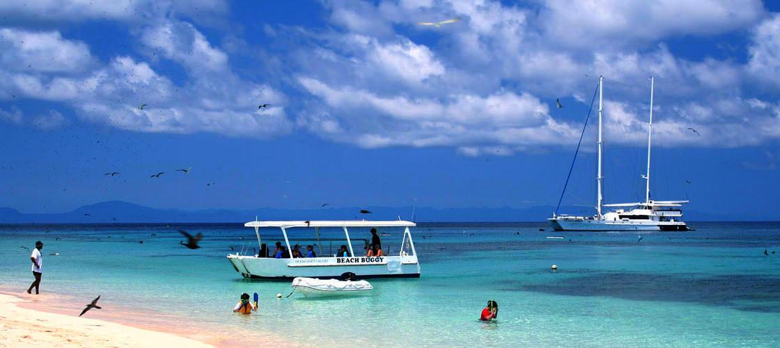 Ocean Spirit boat and beach