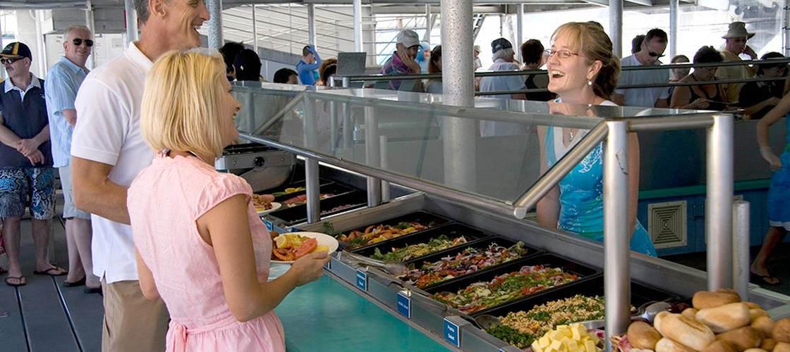 port douglas quicksilver pontoon cruise buffet food