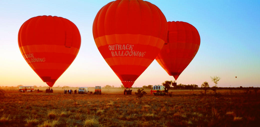 Hot air ballooning from Alice Springs
