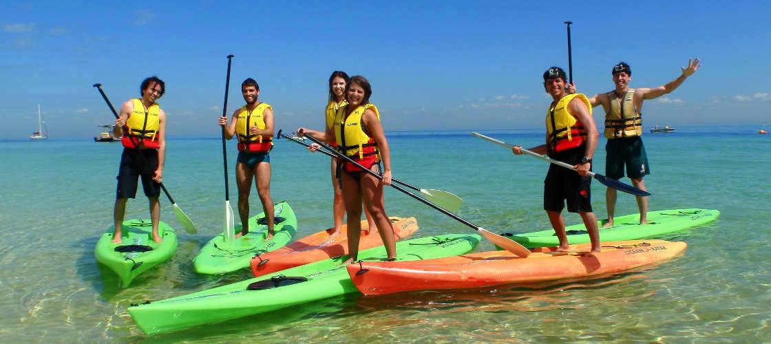 adventure moreton island kayaking