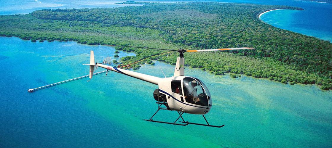 stradbroke island helicopter flights