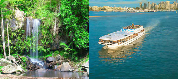 Gold Coast Hinterland Day Tour and FREE Sightseeing Cruise