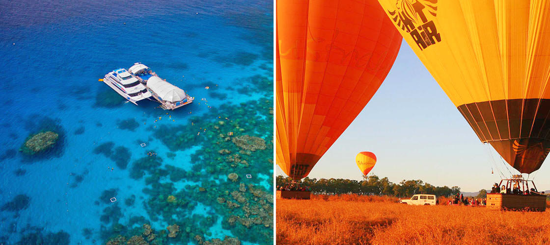 Great Barrier Reef + ballooning 1 day package Cairns