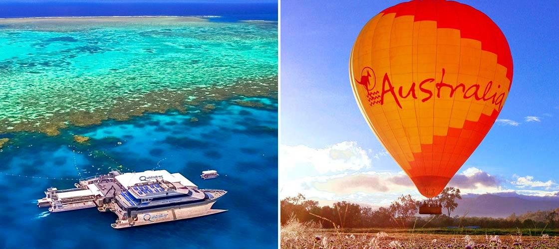 Great Barrier Reef + ballooning 1 day package Port Douglas