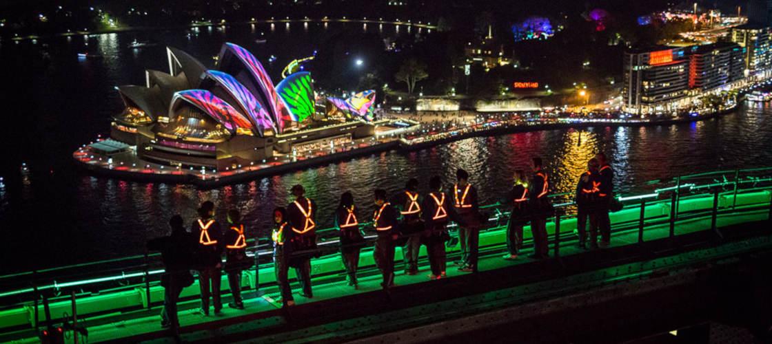 bridge climb sydney vivid festival