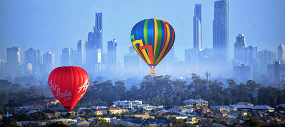 Hot Air Balloon Flight over the Gold Coast