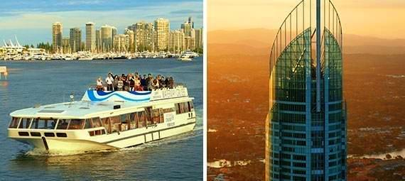 Gold Coast Sightseeing Cruise and SkyPoint Observation Deck Package