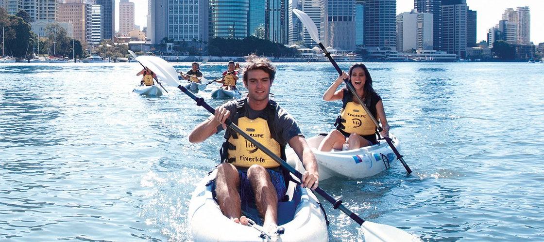 Couple Kayaking Brisbane