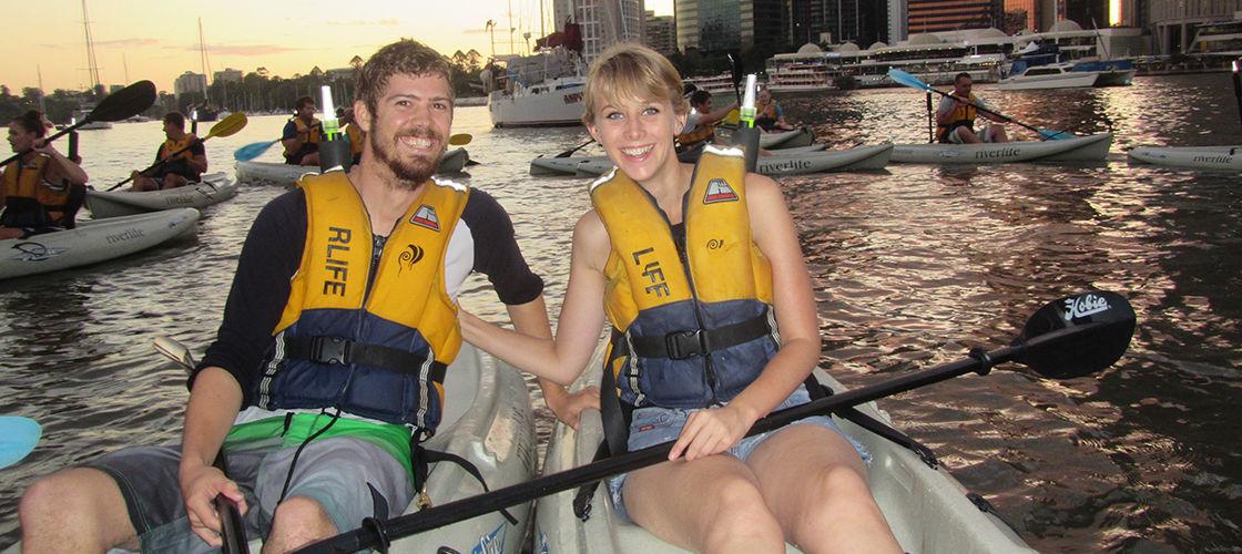 Kayaking at Sunset Brisbane
