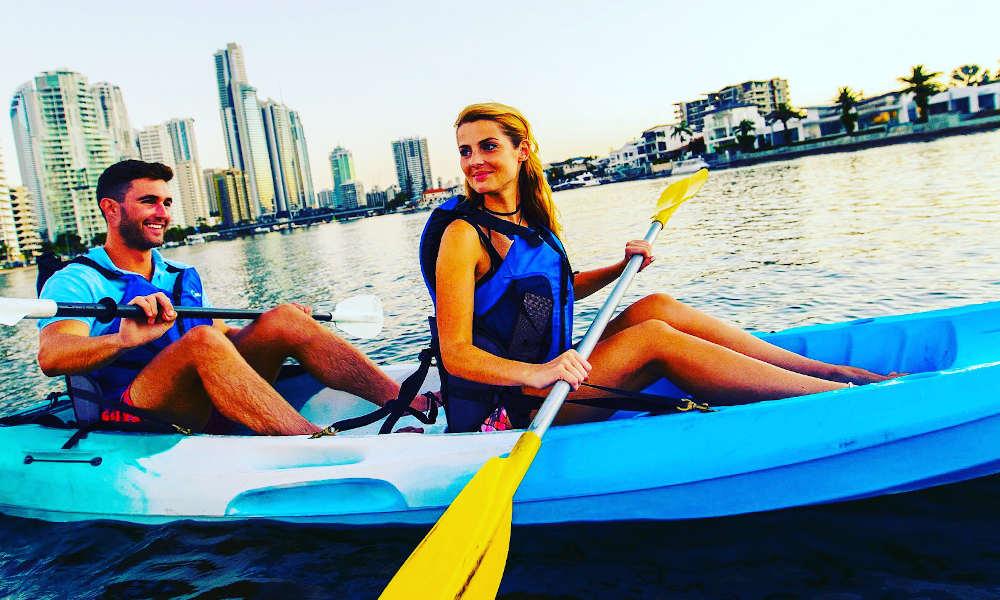 Australian Kayaking Adventures surfers paradise double kayak
