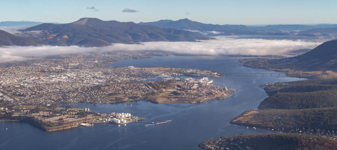 par avion hobart city scenic flight
