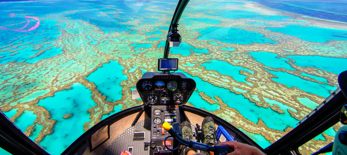 45 Minute Reef and Rainforest Helicopter Flight