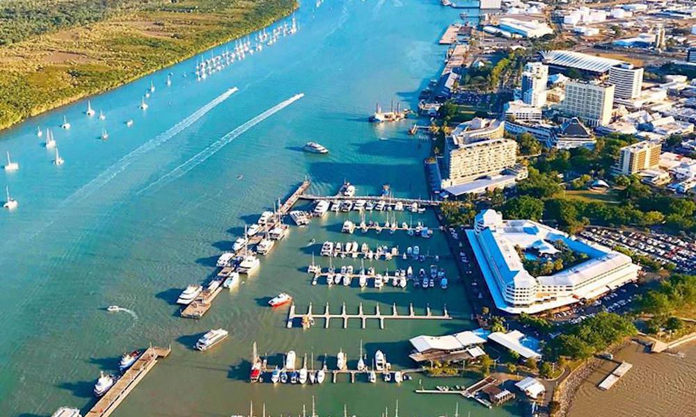 GSL Aviation  Cairns Great Barrier Reef Flight  city view