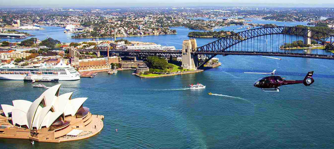 sydney harbour helicopter scenic flight
