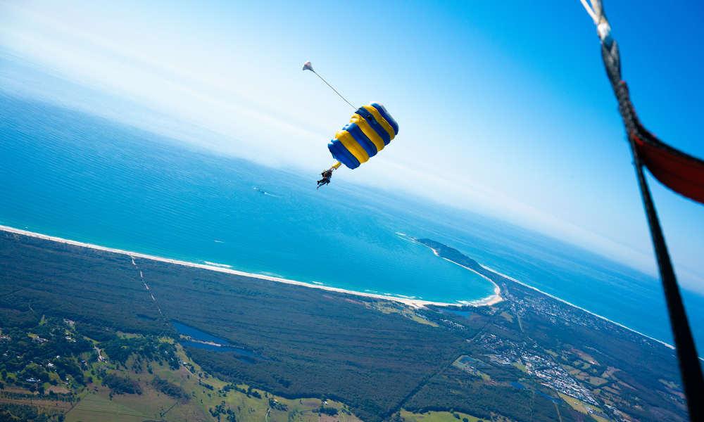 Skydive Byron Bay jump view