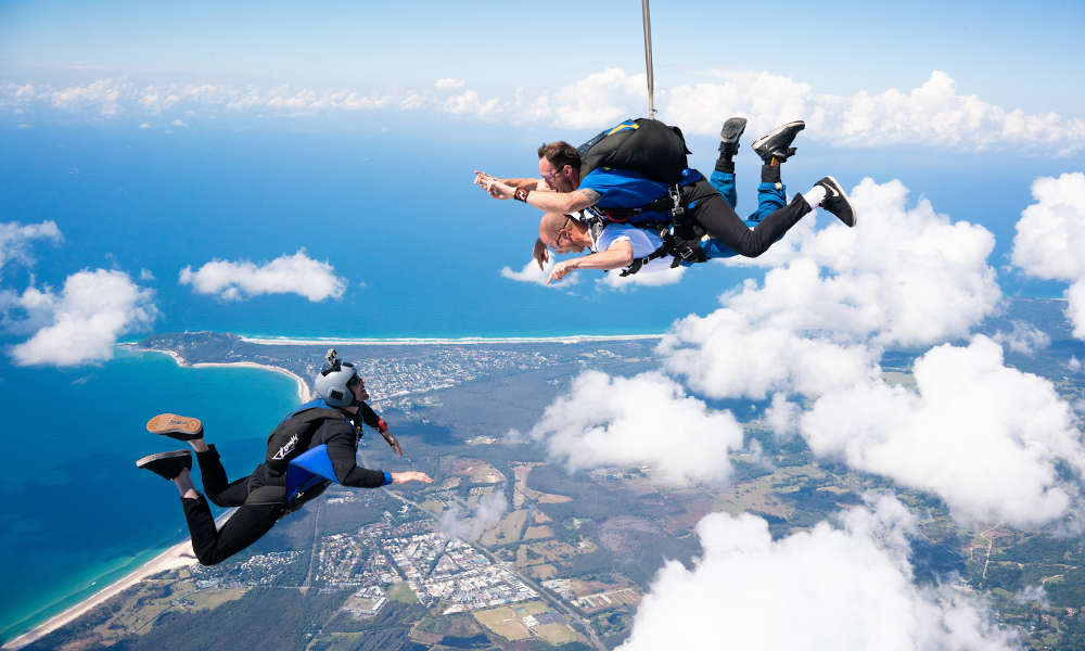 Skydive Byron Bay tandem jump experience