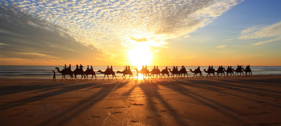 Experience a sunset at Cable Beach
