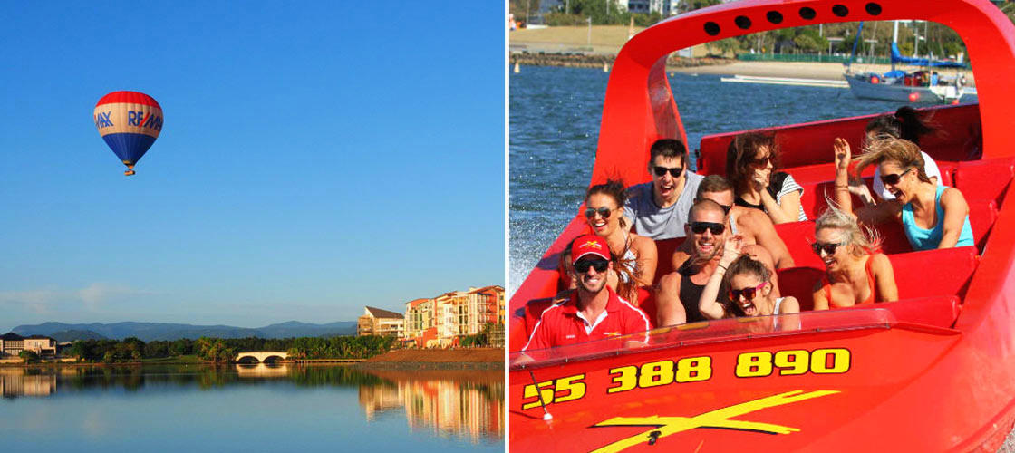 Gold Coast balloon-flight jet boat adventure