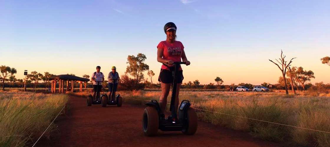 Segway Uluru girl having fun