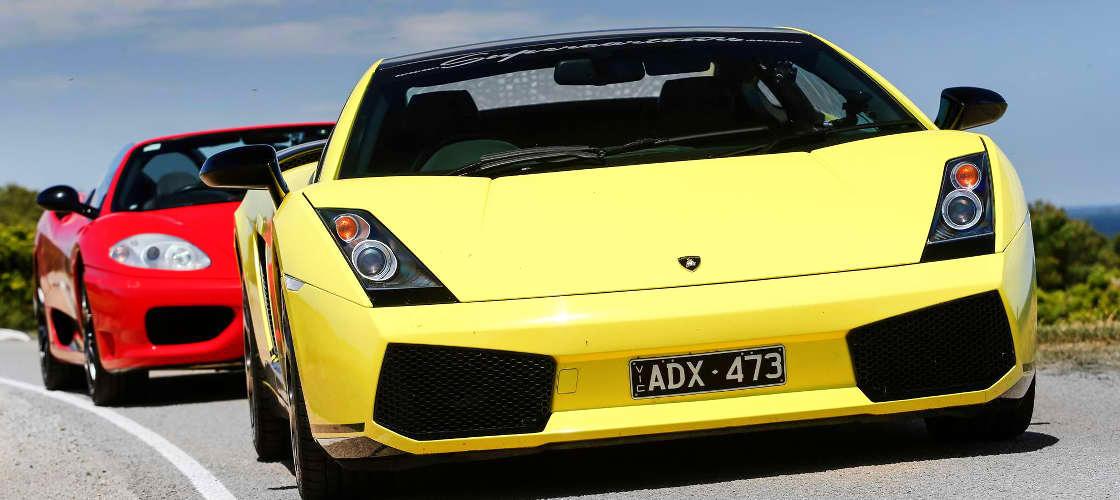 Lamborghini driving