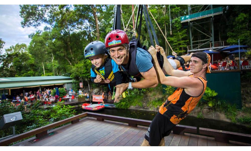 AJ Hackett Cairns Swing experience