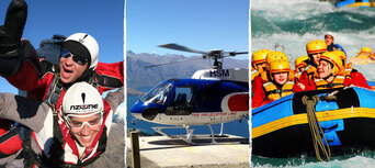 Queenstown Skydive with Helicopter and Rafting Combo Thumbnail 1