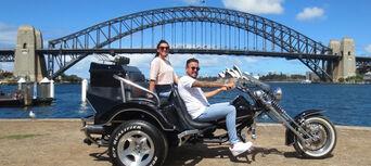 Harley Motorcycle or Chopper 4 Trike Sydney City and Bondi Tour Thumbnail 4