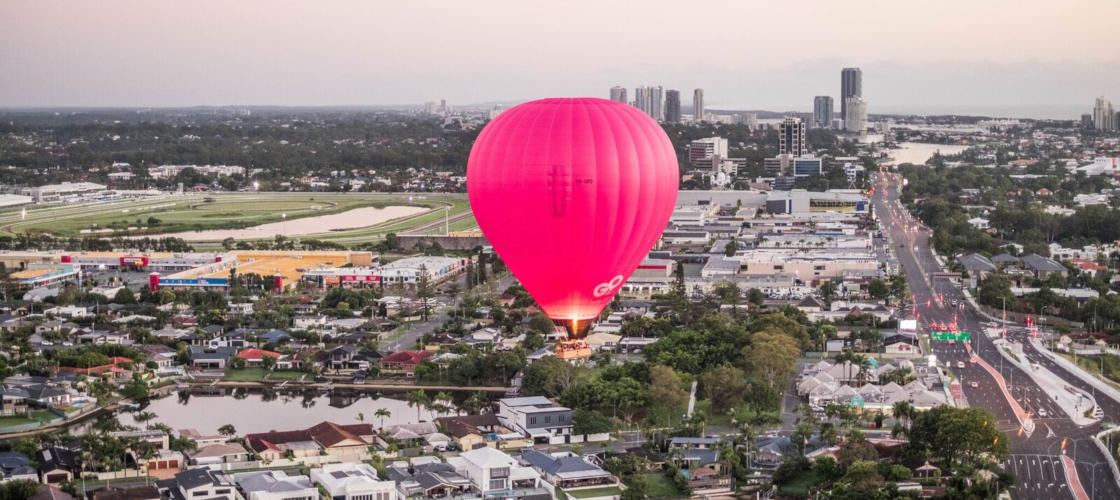 Hot Air Ballooning over Gold Coast City