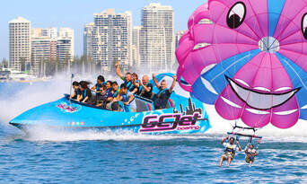 Gold Coast Tandem Parasail and Jet Boat Package Thumbnail 2