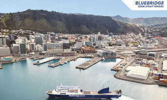 Wellington to and from Picton Bluebridge Cook Strait Ferries Crossing Thumbnail 2