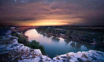Dark Sky Gold Stars Sunset Dinner Thumbnail 6