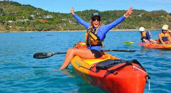 Byron Bay Sea Kayak with Dolphins and Turtles Thumbnail 1