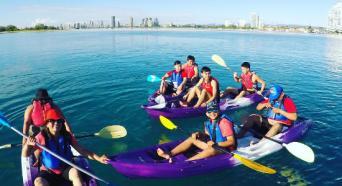 Gold Coast Dolphin and Stradbroke Island Kayaking Tour Thumbnail 1