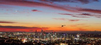 Brisbane City Twilight Helicopter Flight Thumbnail 1