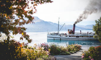 TSS Earnslaw Cruise and Walter Peak Gourmet BBQ Lunch Thumbnail 2