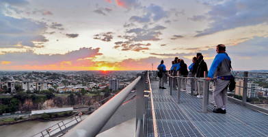 Story Bridge Climb at Sunset