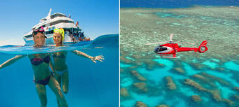 Great Barrier Reef Cruise + 10 Minute Scenic Helicopter Flight Combo Thumbnail 1