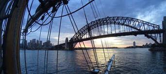 Sydney Harbour Twilight Dinner Tall Ship Cruise Thumbnail 1