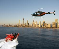 Gold Coast Ocean Jet Boat Ride + Helicopter Flight Thumbnail 2