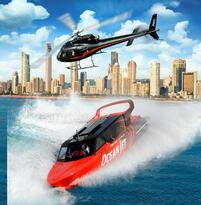 Gold Coast Ocean Jet Boat Ride + Helicopter Flight Thumbnail 4
